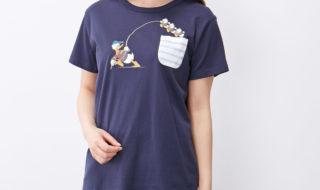 ポケットデザインTシャツ ドナルド