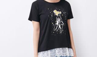 裾レースプリントTシャツ ティンカーベル