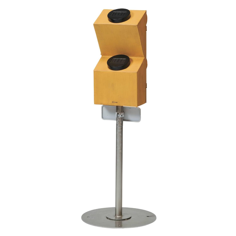 ヴィンテージデザインの信号ソーラーライト バックスタイル