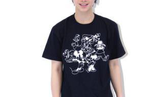 若槇太志郎さんオリジナルディズニーデザイン「ミッキー&フレンズ Tシャツ」 黒 1
