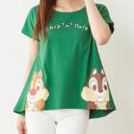 AラインTシャツ チップデール グリーン