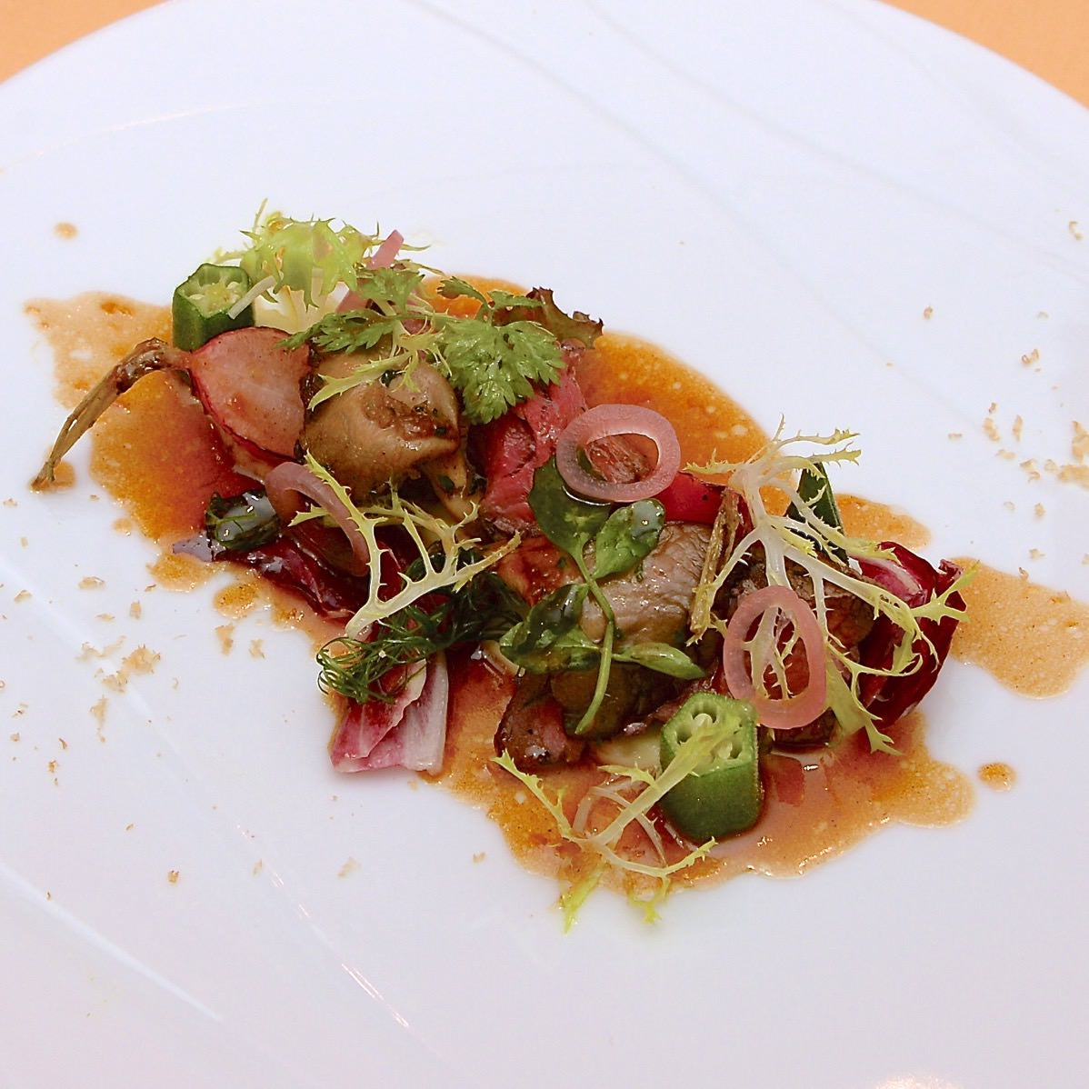 ビーフテンダーロインのグリル エシャロットソース ヘーゼルナッツ風味のマッシュポテト