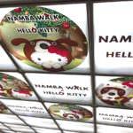 なんばウォーク「時空警察なんばワンとハローキティの事件簿」 なんばウォーク店内天井
