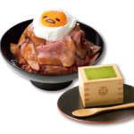 ぐでたまカフェ マウンテン!ローストビーフ丼+宇治抹茶のティラミス
