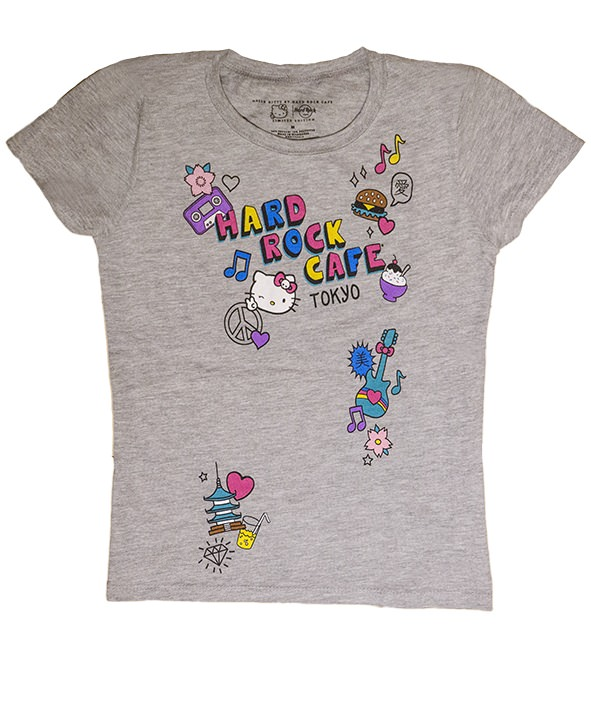 ハードロックカフェ Girls Hello Kitty Patch Tee