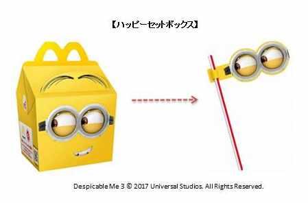ミニオンデザインの特別仕様のハッピーセットボックス