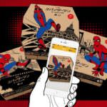 スパイダーマンオリジナルの限定ピザボックス