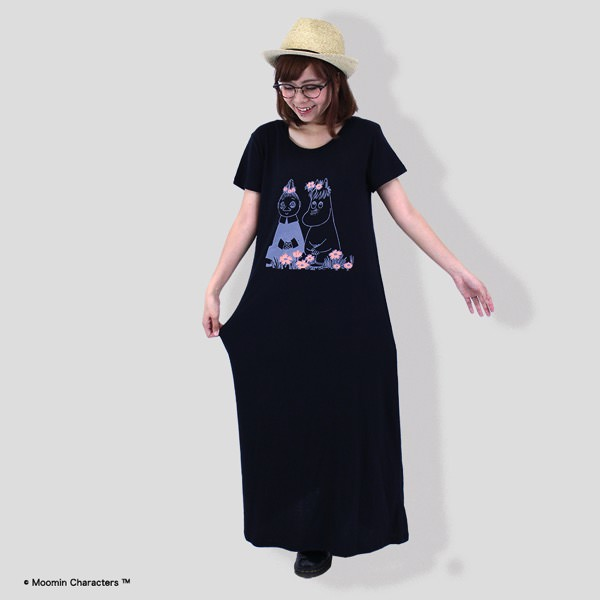 MOOMIN Tシャツマキシ丈ワンピース