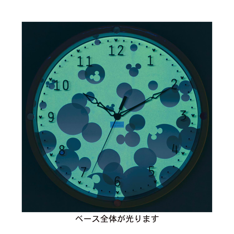 蓄光掛け時計 ベースで蓄光
