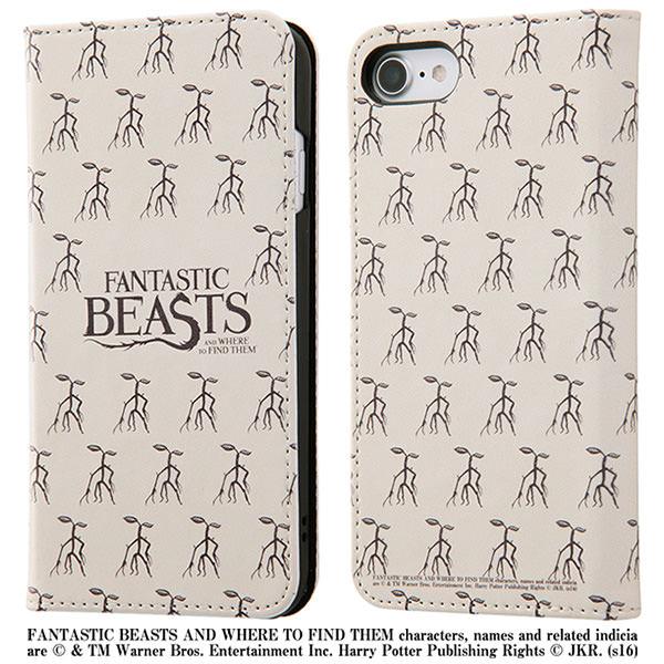 イングレム iPhone7 手帳型 ファンタスティック・ビースト ボウトラックル