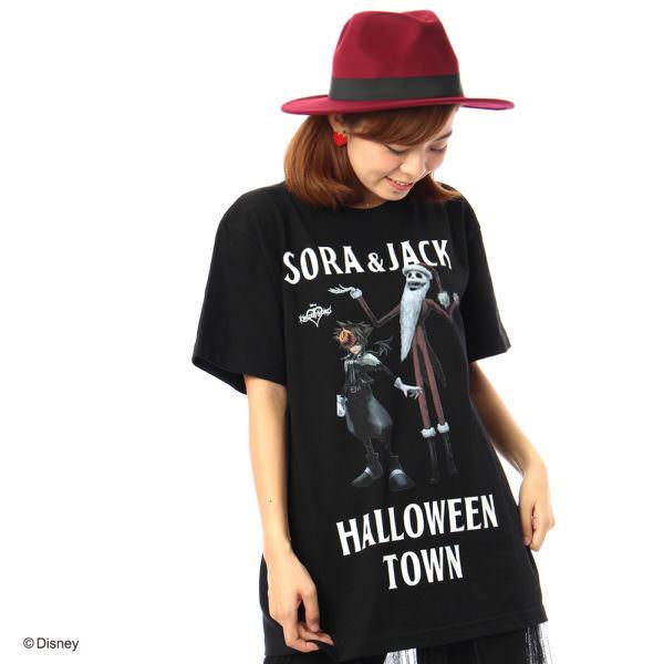 Disney/キングダムハーツ Tシャツ ブラック 着用2