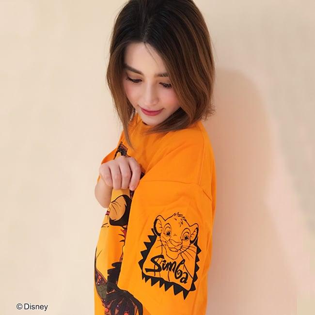 Disney/BIGTシャツシリーズ シンバ 袖アップ