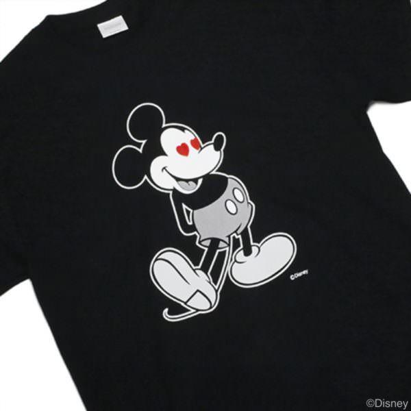 ミッキーTシャツ ラブ ミッキー ブラック