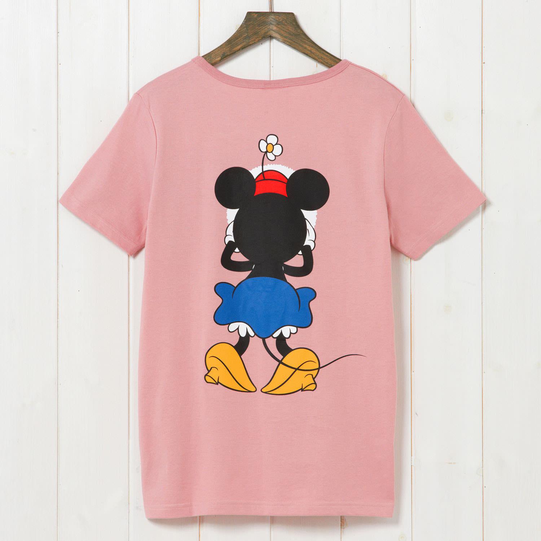 かくれんぼTシャツ ミニー バックスタイル
