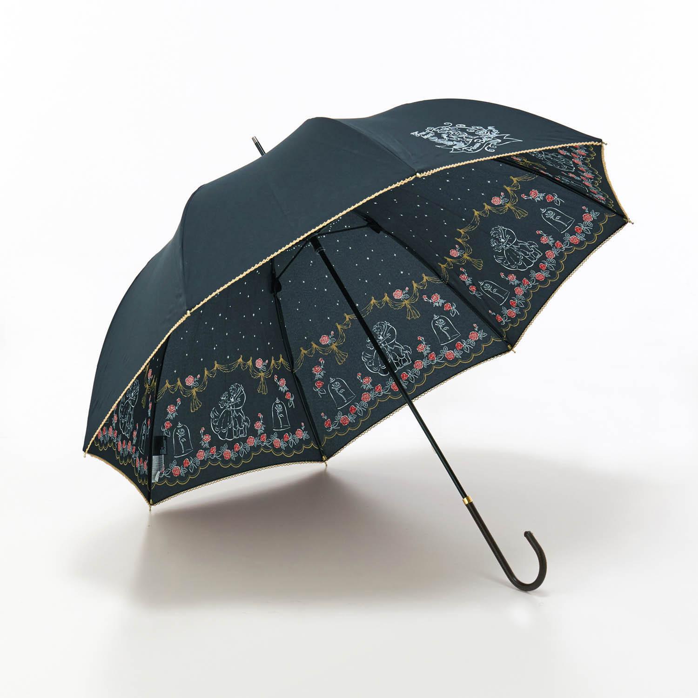 内側プリントの雨傘 ベル