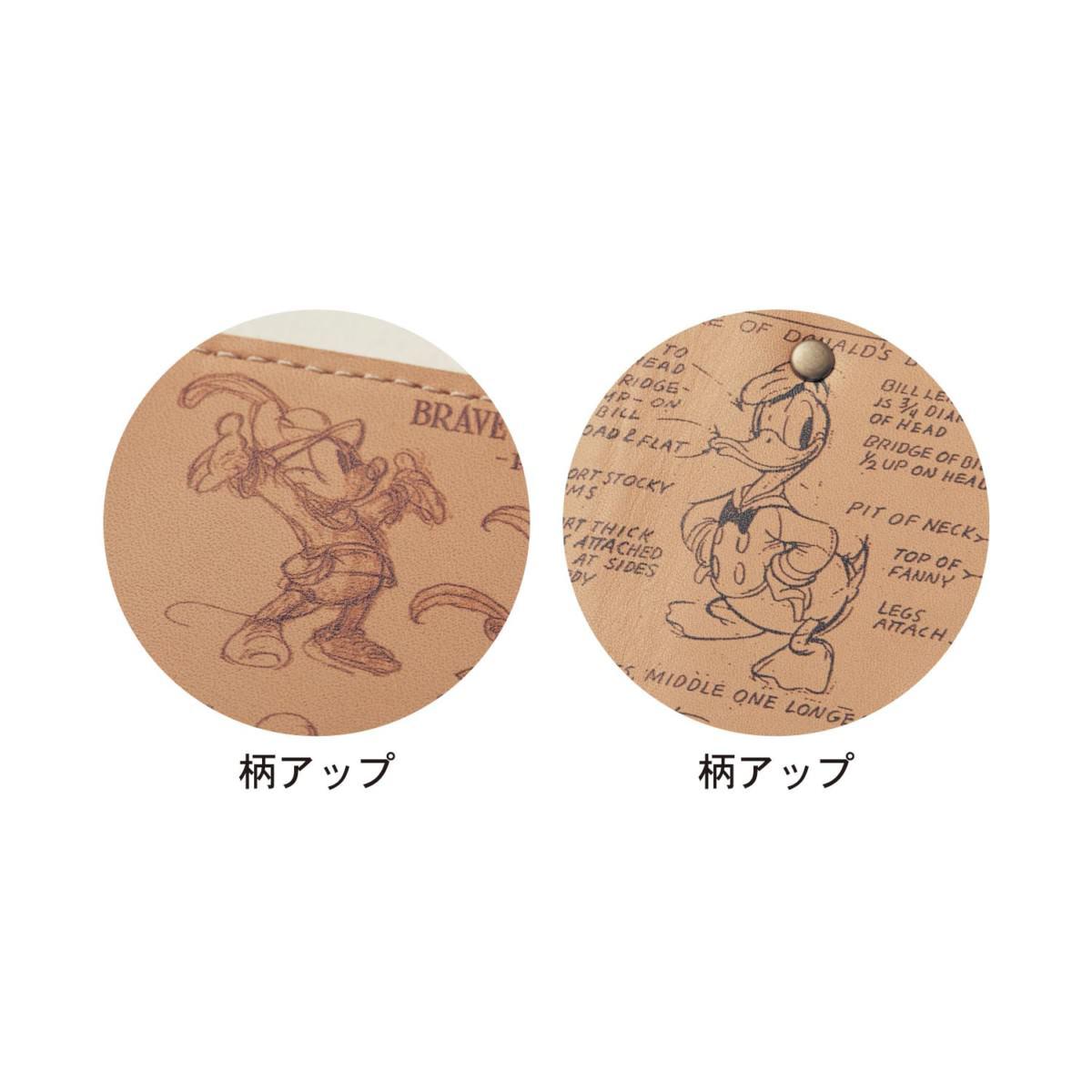 日本製レザーキーケース 柄アップ