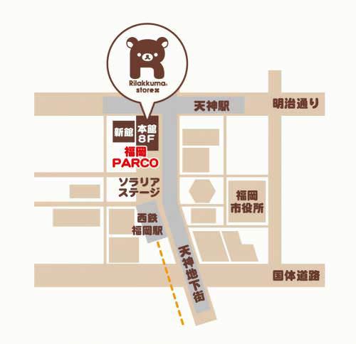 福岡店 地図