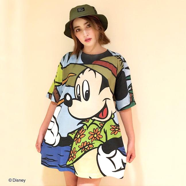 Disney/BIGTシャツシリーズ ミッキーマウスフロント