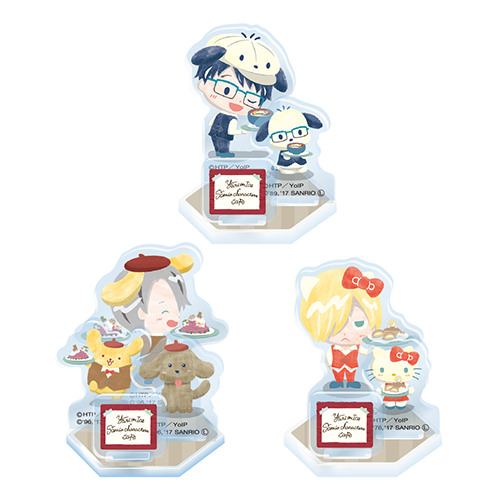 Yuri on Ice×Sanrio characters Cafe  アクリルスタンド全3種