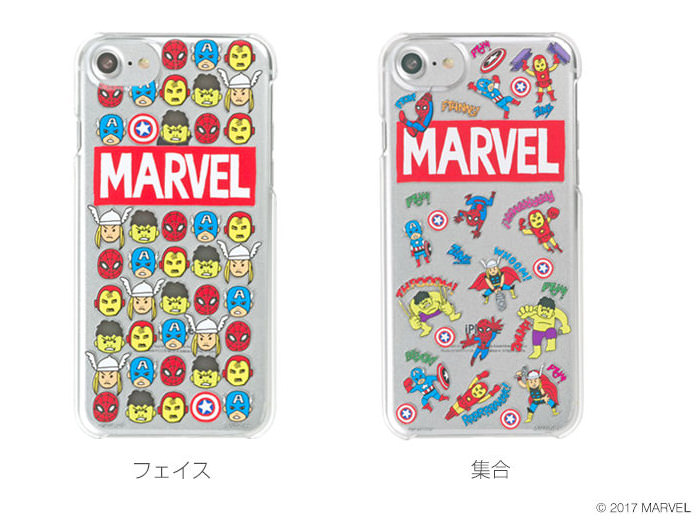 ハミィ MARVEL POP CHARACTERS HARD CASE 集合・フェイス