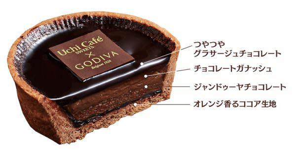 Uchi Café SWEETS×GODIVA ショコラタルト 2