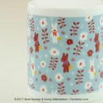 ファーゼン リサとガスパール アロマコンセントランプ 小花ブルーアップ
