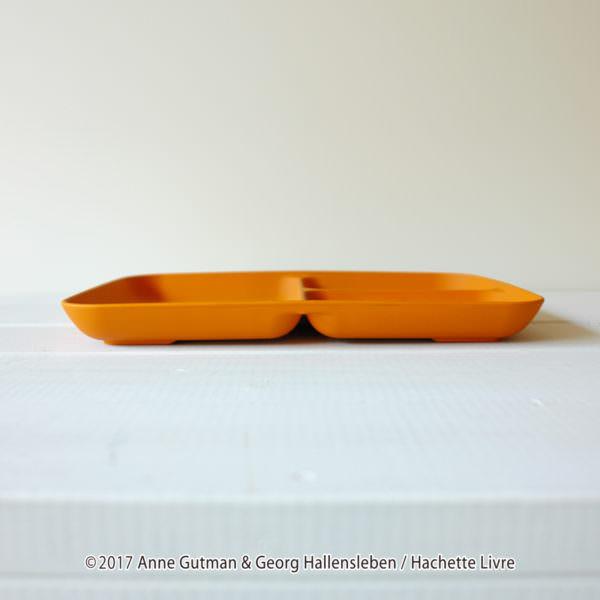 ファーゼン リサとガスパール ワンプレートマットオレンジ側面