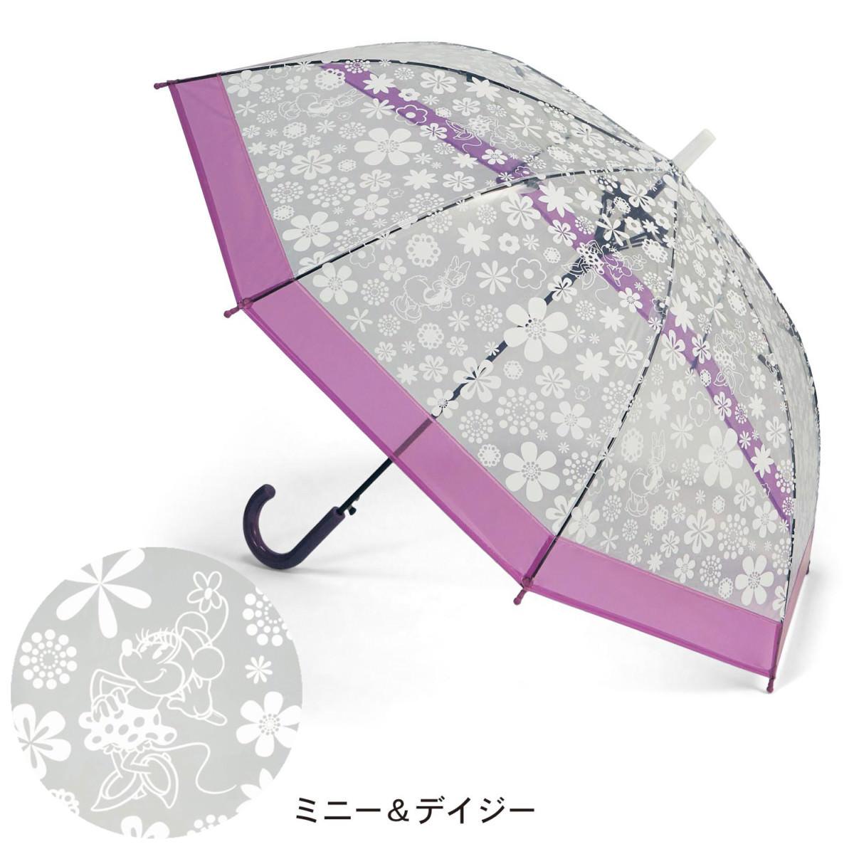 桜骨のカラフルビニール傘 ミニーデイジー