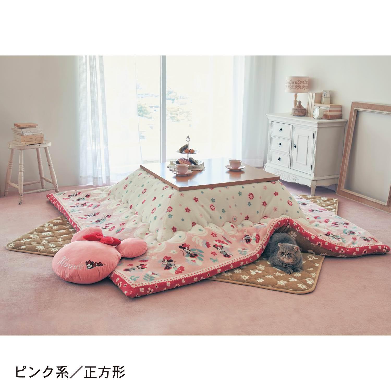 リバーシブルこたつ布団掛け敷きセット ピンク系