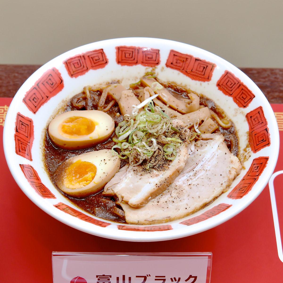 バーミヤン「6種味くらべ ご当地ラーメン祭り」富山ブラックラーメン