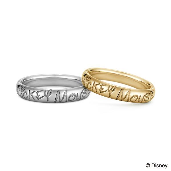 ミッキーマウスモチーフ 結婚指輪