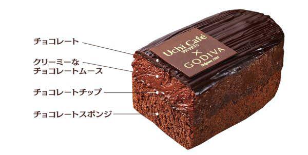 Uchi Café SWEETS×GODIVA ガトーショコラ2
