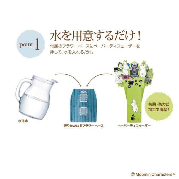 ムーミン ペーパー加湿器&フラワーベース3
