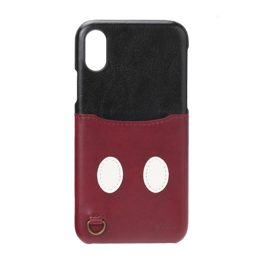 Disney : iPhone X用 ハードケース ポケット付き ミッキー