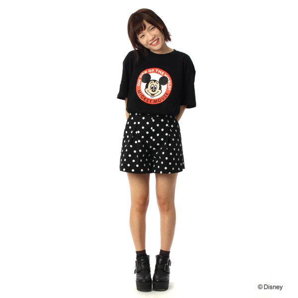ミッキー ロゴ Tシャツ ブラック