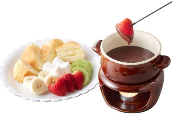 いちごのベルギーチョコフォンデュ