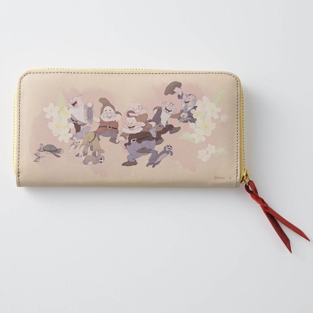 日本製レザー長財布 白雪姫 バックスタイル