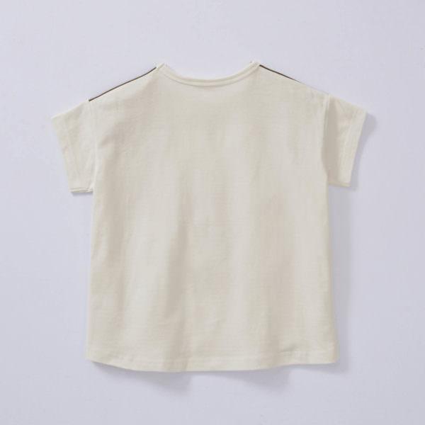 半袖ビッグシルエットフェイスTシャツ バックスタイル
