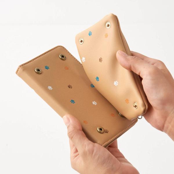 コインケースが取り外せる多機種対応スマートフォンケース 取り外し