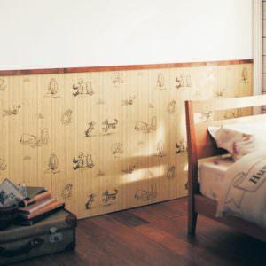 木目調の壁紙シール4枚セット