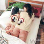 つながる綿100%長袖パジャマ 使用イメージ