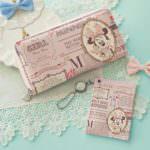 日本製リール付きパスケースと長財布