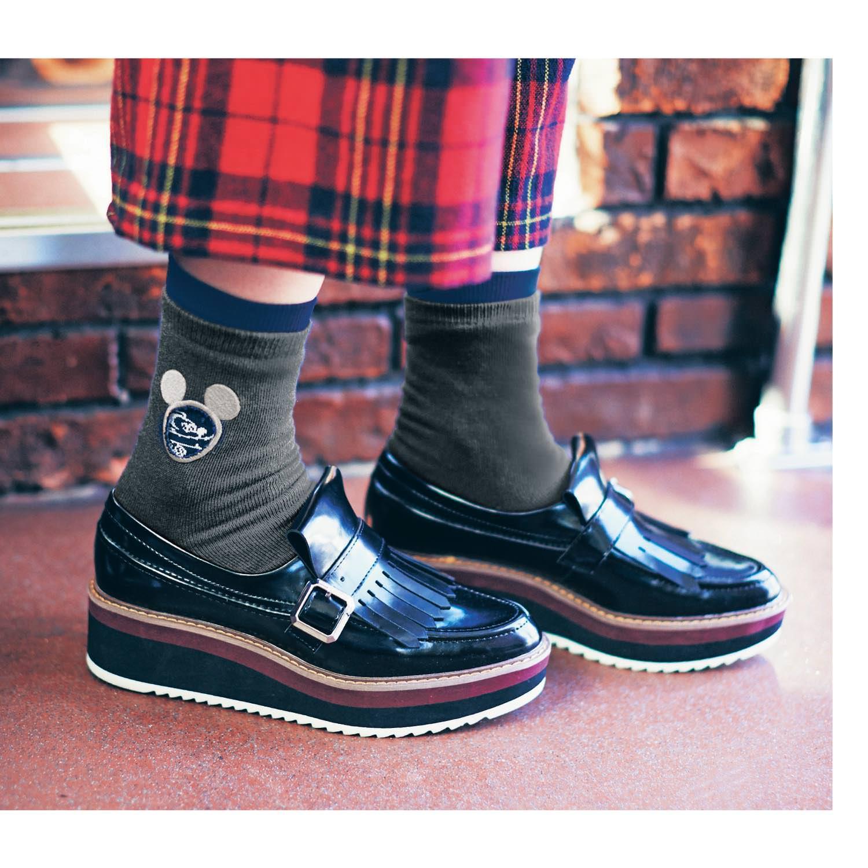 重ね履き靴下セット ネイビー 着用イメージ