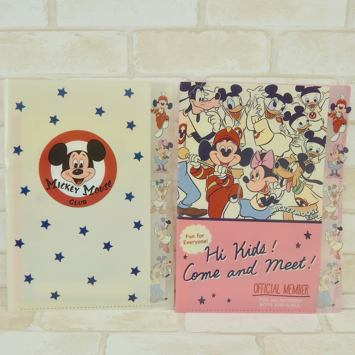 MICKEY MOUSE CLUB ダイカットクリアファイル5P