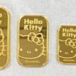 ハローキティの24K純金ゴールドバー