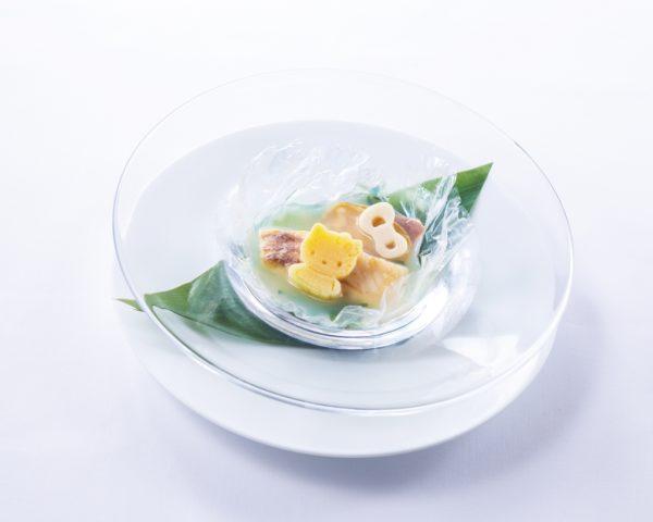 桜鯛と地蛤筍のスープ仕立て