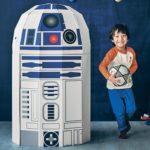 R2-D2型の段ボール秘密基地ハウス