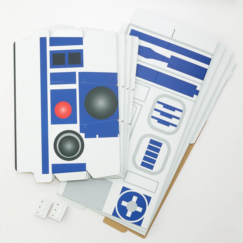 R2-D2型の段ボール秘密基地ハウス セット内容