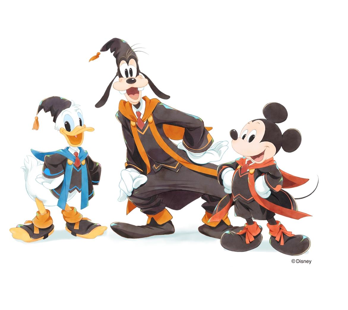 ディズニー・プログラミング学習教材「テクノロジア魔法学校」ミッキー、ドナルド、グーフィー