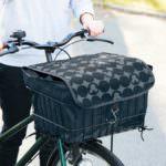 自転車カゴカバー ブラック×グレー